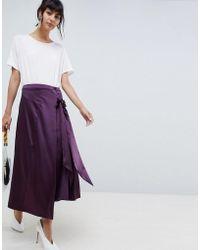 e80702e78 Jupe longue ..,merci en coloris Violet - Lyst