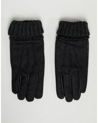 ASOS - Gants en cuir pour cran tactile avec molleton de laine - Lyst