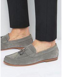 Lambretta - Tassel Loafers In Grey - Lyst