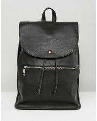 ASOS - Soft Backpack With Zip Detail - Lyst