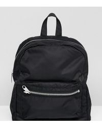 Monki - Nylon Mini Backpack In Black - Lyst