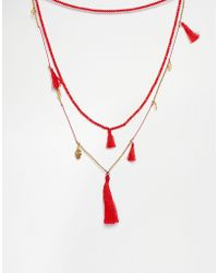 Love Rocks - Coin & Tassel Necklace - Lyst