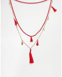 Love Rocks | Coin & Tassel Necklace | Lyst