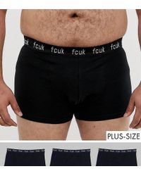 5ec6f9899f664 French Connection 5 Pack Boxers in Black for Men - Lyst