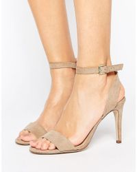 New Look - Suedette Barely There Heeled Sandal - Lyst