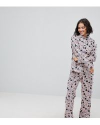 Monki - Christmas Stripe Tree Pyjama Set - Lyst