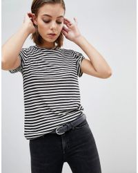 AllSaints - Mono Striped T-shirt - Lyst