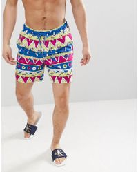 Short Long Pizza Et Requin Motifs De Mi Bain nwXN80kOP