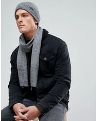Ben Sherman - Hat And Scarf Set - Lyst