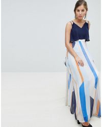Coast - Suri Striped Maxi Dress - Lyst