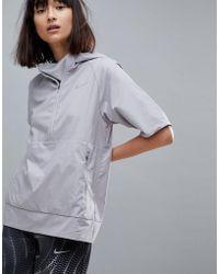 Nike - Flex Essential Short Sleeve Jacket In Grey - Lyst