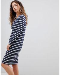 Ichi - Stripe Dress - Lyst