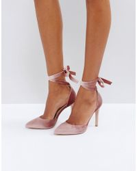 Truffle Collection - Tie Ankle Court Shoe Heels - Lyst