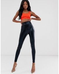 a8fb3693018a0 ASOS New Look Maternity Wet Look Legging in Black - Lyst