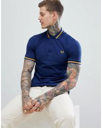 Fred Perry - Reissues Tipped Polo In Navy - Lyst