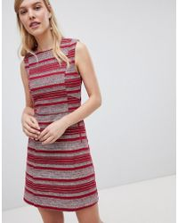 Oasis - Striped Ruffle Hem Shift Dress - Lyst