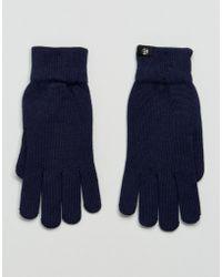 PS by Paul Smith - Merino Wool Gloves In Navy - Lyst