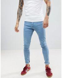 Lee Jeans - Malone Power Stretch Rollin Blue Super Skinny Jean - Lyst