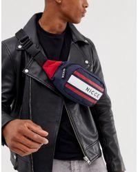 2275b007d Tommy Hilfiger Faux Leather Mini Crossbody Bag With Grey Logo Stripe ...