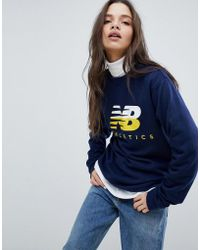 New Balance - Logo Sweatshirt In Navy - Lyst