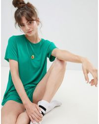 Adolescent Clothing - Embroidered Avocado T-shirt And Shorts Pyjama Set - Lyst