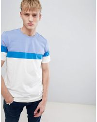 Farah - Haryln Block Stripe T-shirt In Blue - Lyst