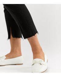6b8d216cf5d Lyst - ASOS Mossy Wide Fit Flat Shoes in Black