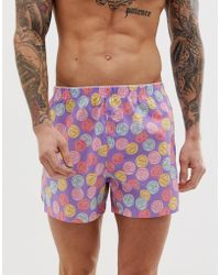 ASOS - Woven Boxer With Love Heart Print - Lyst