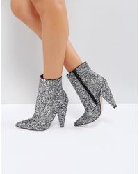 ASOS DESIGN - Asos Eileen Heeled Ankle Boots - Lyst