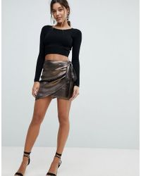 Ivyrevel - Satin Wrap Skirt With Ruffle Side - Lyst