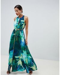 Coast - Montego Printed Maxi Dress - Lyst