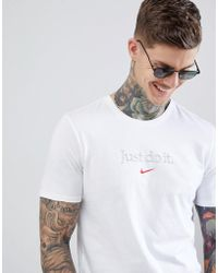 Nike - Just Do It T-shirt In White Aa6578-100 - Lyst