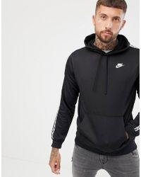Nike - Taping Pullover Hoodie In Black Ar4914-010 - Lyst