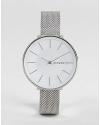 Skagen - Skw2687 Karolina Mesh Watch In Silver 38mm - Lyst