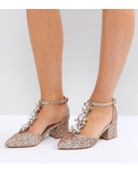 ASOS - Design Wizard Wide Fit Embellished Heels - Lyst