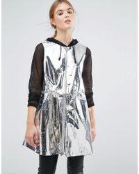 Weekday - Press Collection Solar Metallic Foil Sleeveless Jacket - Lyst