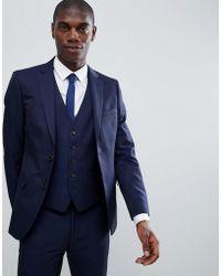 Moss Bros - Moss London Skinny Suit Jacket In Navy - Lyst