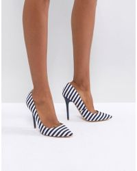 Office - On Tops Striped Court Shoes - Lyst