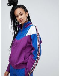 Champion - Retro Tracksuit Top With Contrast Panels And Logo Taping Co-ord - Lyst