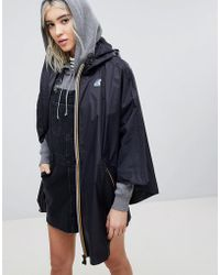 K-Way - K-way Morgan Zip Through Waterproof Festival Poncho - Lyst