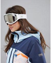 26f5fe0c618 Roxy - Hubble White Ski Goggles - Lyst