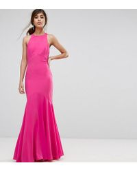 Jarlo - Fishtail Maxi Dress With Open Bow Back - Lyst