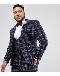 d40f377756a167 ASOS Slim Suit Jacket In Mink Sateen Print in Pink for Men - Lyst