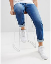 DIESEL - Thommer Tapered Jeans In Mid Wash Blue - Lyst