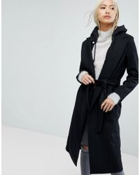 AllSaints - All Saints Sienna Bis Coat With Hood - Lyst