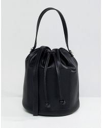 Pieces - Mini Bucket Bag - Lyst