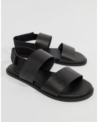 Kurt Geiger - Usher Leather Sandals In Black - Lyst