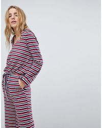Honey Punch - Long Sleeve Hooded Top In Stripe Co-ord - Lyst