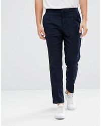 Mango - Man Smart Pants In Navy - Lyst