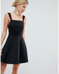 ASOS - Square Neck Mini Prom Dress - Lyst